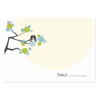 fatfatin Cherry Blossoms Love Bird Place Card Business Card