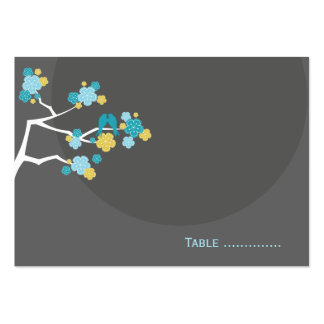 fatfatin Cherry Blossoms Love Bird Place Card Business Cards