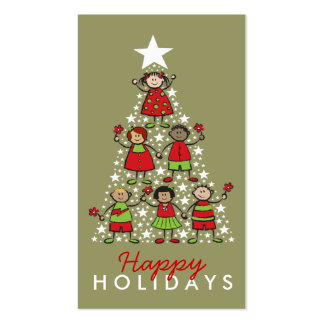 fatfatin Christmas Tree Kids Holiday Gift Tag Pack Of Standard Business Cards