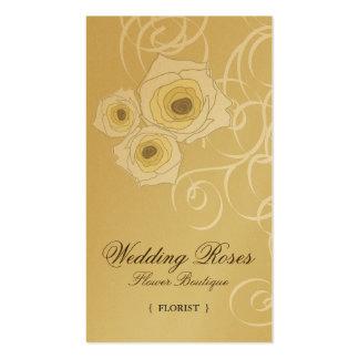 fatfatin Cream Roses & Swirls Profile Card Business Card Template