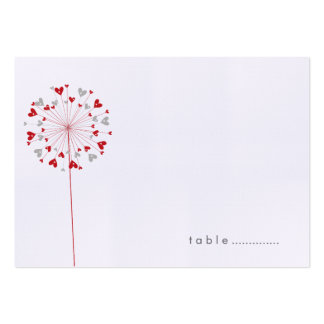 fatfatin Dandelions Love 03 Guest Place Card Business Card Template