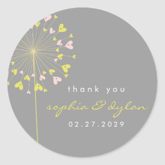 fatfatin Dandelions Love 05 Thank You Sticker