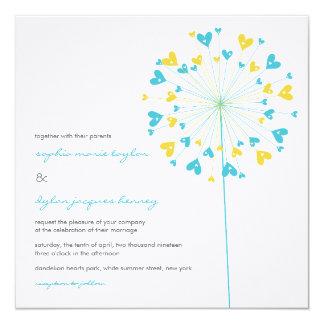 fatfatin Dandelions Love 06 Wedding Invitation