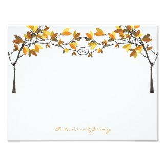 fatfatin Fall Autumn Knotted Love Trees Thank You 11 Cm X 14 Cm Invitation Card