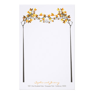 fatfatin Fall Autumn Knotted Love Trees Wedding Stationery Paper