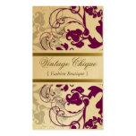 fatfatin Floral Flourish Plum Purple Profile Card