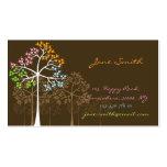 fatfatin Four Seasons Trees Custom Business Cards