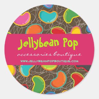 fatfatin Jellybean Pop Custom Round Sticker
