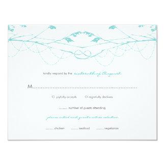 fatfatin Knotted Love Trees 02 Wedding RSVP Card 11 Cm X 14 Cm Invitation Card