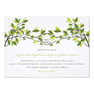 fatfatin Knotted Love Trees Wedding Invitation