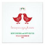 fatfatin Mistletoe Kissing Chicks Holiday Greeting