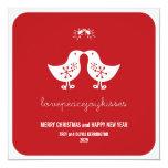 fatfatin Mistletoe Kissing Chicks Holiday Photo Ca Custom Announcement