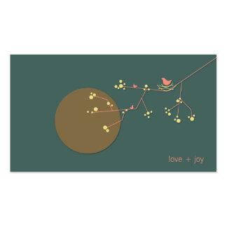 fatfatin Nesting Bird and Family 02 Profile Card Business Card Templates