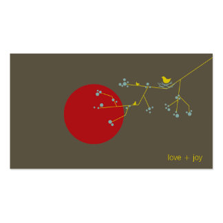 fatfatin Nesting Bird and Family 03 Profile Card Business Card Templates