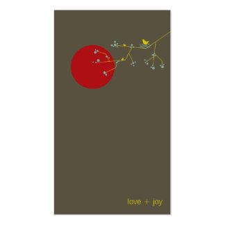 fatfatin Nesting Bird and Family 03 Profile Card Business Card Template