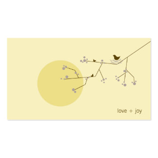 fatfatin Nesting Bird and Family 04 Profile Card Business Card Template