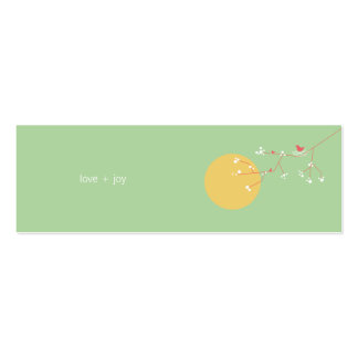 fatfatin Nesting Bird and Family 05 Profile Card Business Card Template