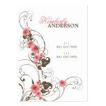 fatfatin Pink Roses Fleur Elegant Profile Card Business Card Template