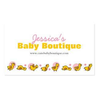fatfatin Silly Duckies Pink Business Card