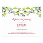 fatfatin Spring Knotted Love Trees Save The Date Post Card