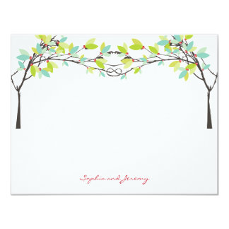 fatfatin Spring Knotted Love Trees Thank You Card 11 Cm X 14 Cm Invitation Card