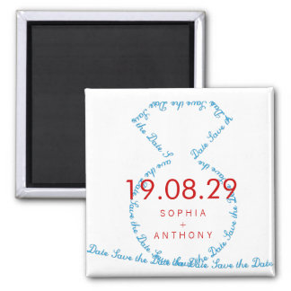 fatfatin Tiff Diamond Ring Save The Date Magnet