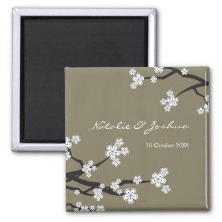 fatfatin White Sakuras Save The Date Magnet