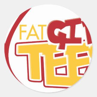 FatGirlTees 1 Round Sticker