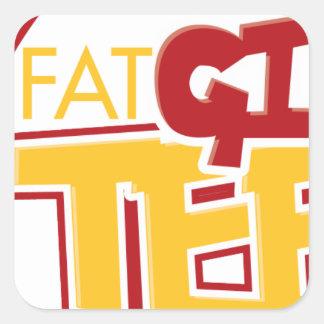 FatGirlTees 1 Square Sticker