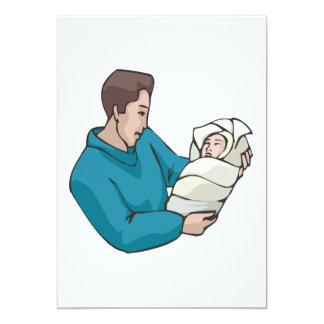 Father 13 Cm X 18 Cm Invitation Card
