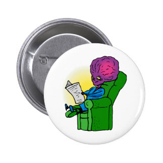 Father Alien reading Paper Pin