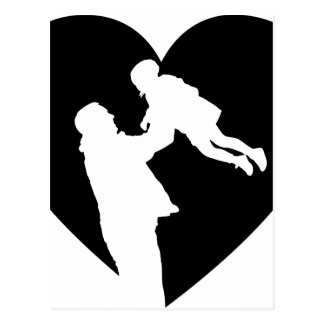 Father And Daughter Heart Postcard