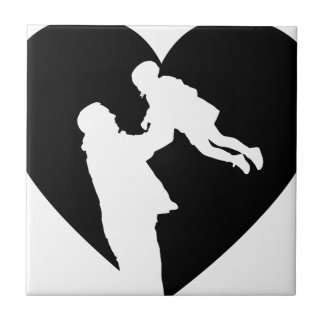 Father And Daughter Heart Tile