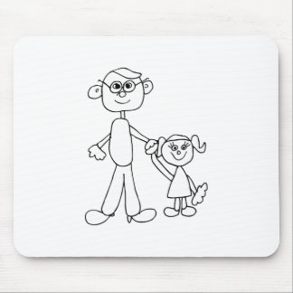 Father and Daughter Mousepad