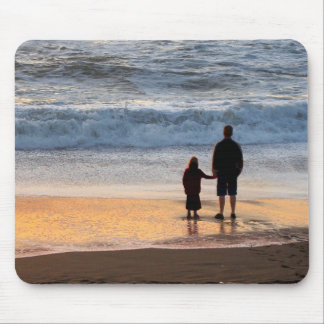 Father and daughter mouse pad