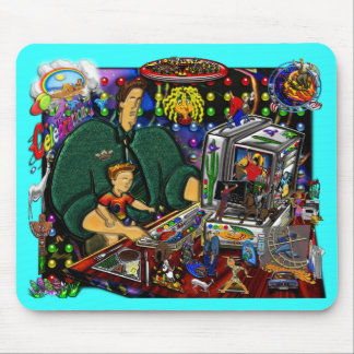 Father and Son at Computer I Mouse Pad