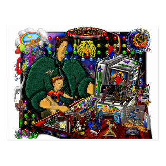 Father and Son at Computer I Postcard