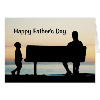 Father and Son at Sunset Photo Unique Father's Day Card