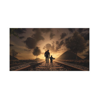 Father and son canvas canvas print