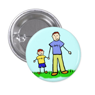 Father and Son Family Character Custom Pin Buttons