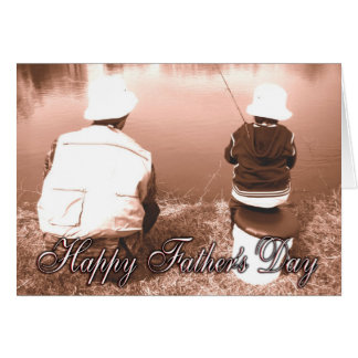Father and Son Fishing - Happy Father's Day Card