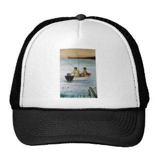 Father and son fishing trip cap