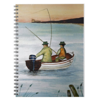 Father and son fishing trip notebooks