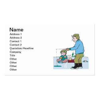 Father And Son Ice Fishing Pack Of Standard Business Cards