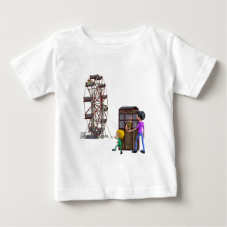 Father and Son ready to ride a Ferris Wheel Baby T-Shirt