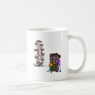 Father and Son ready to ride a Ferris Wheel Coffee Mug