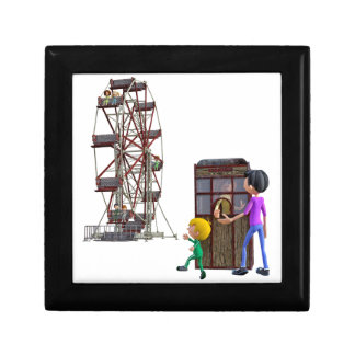Father and Son ready to ride a Ferris Wheel Gift Box