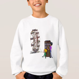 Father and Son ready to ride a Ferris Wheel Sweatshirt