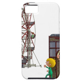 Father and Son ready to ride a Ferris Wheel Tough iPhone 5 Case