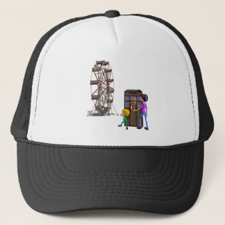 Father and Son ready to ride a Ferris Wheel Trucker Hat